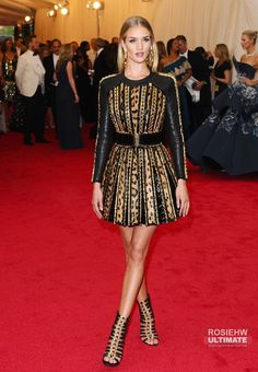 Rosie Huntington-Whiteley Photos - Arrivals at the Met Gala in New York City. - Red Carpet Arrivals at the Met Gala — Part 2 Costume Institute, Rosie Huntington Whiteley, Red Carpet, Costumes, Metropolitan Museum, Mini, Benefit, Model, Public