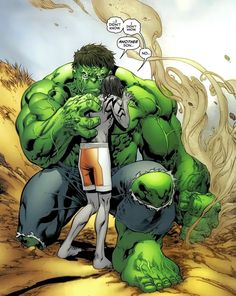 Skaar with his father The Hulk