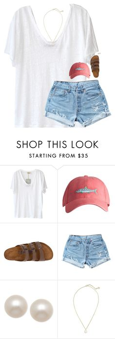 """tag:))"" by classynsouthern ❤ liked on Polyvore featuring American Vintage, Southern Tide, Birkenstock, Levi's, Honora and Kendra Scott"