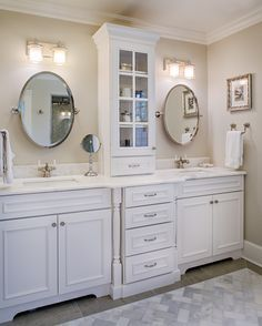 96 inch double vanity. white double vanity with tower Before And After Small Bathroom Makeovers Big On Style  Double