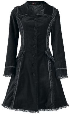 Velvet and lace coat