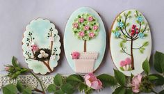 Spring inspired cookies