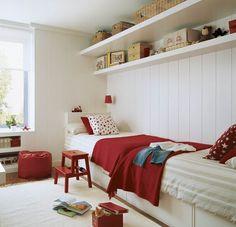 Habitaciones infantiles para dos o más niños con muchas soluciones para aprovechar el espacio y mantener el orden