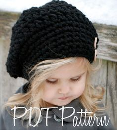CROCHET PATTERN-Zoie Slouchy (pattern includes sizes for: toddler, child, and adult) on Etsy, $5.50