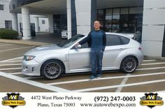 Nancy and I drove from Waxahachie to purchase a Subaru Impreza WRX STI. I worked with George, he is professional, personable and easy to work with. I felt no pressure and had a great buying experience. I will buy from George and AutoWebExpo in the future! Call George at 214-457-6113 if you are looking for a cool car.-Nancy and Javier L., Monday 11/30/2015 http://www.autowebexpo.com/?utm_source=Flickr&utm_medium=DMaxxPhoto&utm_campaign=DeliveryMaxx