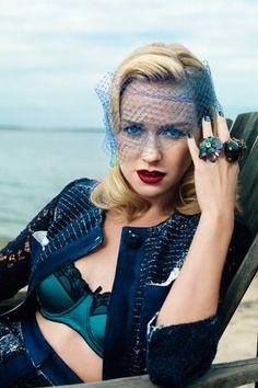Naomi Watts Harper's Bazaar. Love the lingerie and make-ups. Skip the rings
