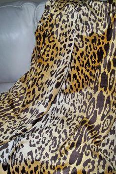 SCALAMANDRE LEOPARDO Leopard Silk Velvet Fabric CUSTOM Throw Blanket Safari Theme, Animal Print Rug, Velvet, Silk, Blanket, Trending Outfits, Fabric, Vintage, Etsy