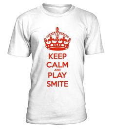 LTD - Keep Calm and Play Smite  #gift #idea #shirt #image #music #guitar #sing #art #mugs #new #tv #cool