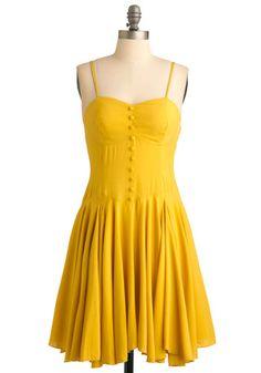 lemon yellow.  #frock #modcloth