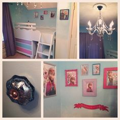 Disney's Frozen girls bedroom, with lots of Anna and Elsa
