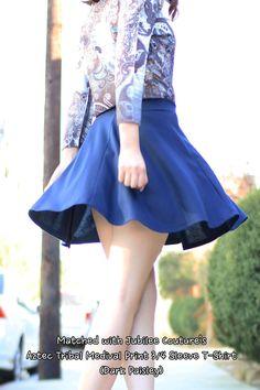 JC Womens Versatile Mini Flare Pleated Skater Skirt  Color- Navy  #Skaterskirt #miniskirt #flare #twirl