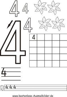 http://www.kostenlose-ausmalbilder.de/vorlage/motive/schule/schreiben-grundschule/zahlen-schreiben-ueben.php: Zahlen schreiben üben, Ziffern nachspuren, Ausmalbilder, Mathe, Klasse 1, Vorschule