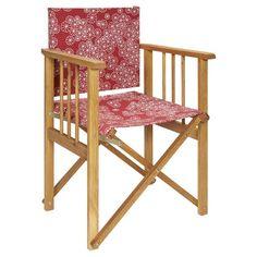 Fauteuil pliant rouge : Habitat revisite sa fameuse chaise pliante en lui ajoutant un tissu japonisant et frais. Fauteuil pliant Africa, 64 €, Habitat