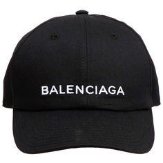 9ef380e6a09 Balenciaga Logo Baseball Cap ( 195) ❤ liked on Polyvore featuring  accessories