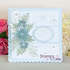 Dies by Chloe - Layered Flower Die - - Dies By Chloe Layered Flower Die - Chloes Creative Cards Chloes Creative Cards, Stamps By Chloe, Tattered Lace Cards, Simple Birthday Cards, Shabby Chic Cards, Square Card, Card Making Techniques, Pretty Cards, Card Tags