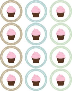 TONS of free printables Cupcake Stickers by blush printables, via Flickr