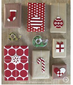 Creative Gift Wrapping Ideas For Christmas-Gift, Ideas, Christmas, Creative, Wrapping Christmas Gift Wrapping, Diy Christmas Gifts, Holiday Gifts, Christmas Crafts, Christmas Decorations, Funny Christmas, Christmas Christmas, Christmas Perler Beads, Office Decorations