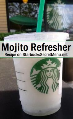 Mojitos are loved for their cool refreshing taste, making them a very popular summer beverage.While this is a virgin Mojito, it still packs great flavour. And, having it blended makes it the perfect beverage for a hot day! Starbucks Secret Menu Drinks, Starbucks Recipes, Coffee Recipes, Drink Recipes, Starbucks Smoothie, Starbucks Flavors, Starbucks Order, Smoothie Recipes, Cake Recipes