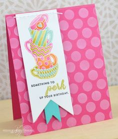 Perk Up Your Birthday Card by Nichole Heady for Papertrey Ink (August 2013)