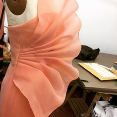 csiriano Back in the studio today draping a few last things for our new Resort collection!