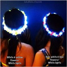 Light Up LED Flower Crown/halo for Festivals, EDC, EDM Raves or Concerts on Etsy, $29.99