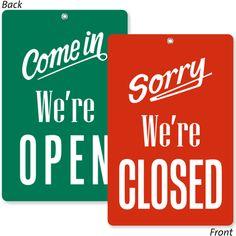 Amazon.com: open closed signs
