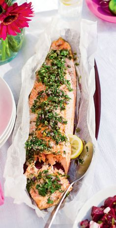 46 best christmas delights images on pinterest natal natale and barbecued salmon with herbs capers forumfinder Gallery