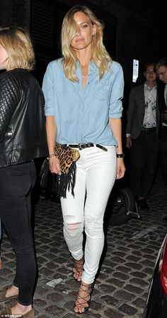 Here she comes:Bar Refaeli made sure all eyes were on her as she headed to London celebri...