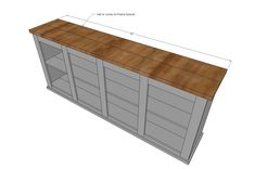 Use one of these free DIY TV stand plans for your own entertainment center for your flatscreen TV. All plans include complete building instructions. Barn Door Cabinet, Barn Door Tv Stand, Barn Door Console, Diy Barn Door, Barn Doors, Diy Furniture Building, Diy Furniture Plans, Woodworking Projects Diy, Diy Wood Projects