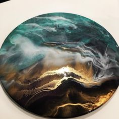 Leinwand Kunstharz mit Pigmenten @ … … Canvas synthetic resin with pigments @ … – Resin art – cm # Resin Wall Art, Epoxy Resin Art, Diy Resin Art, Resin Artwork, Diy Resin Crafts, Acrylic Resin, Acrylic Art, Resin Paintings, Stick Crafts