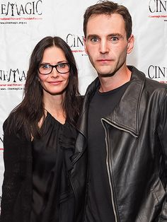 'MAGIC' TOUCH   It's date night for Courteney Cox and beau Johnny McDaid, who stick together Monday at Cinemagic's L.A. showcase celebrating young filmmakers in Santa Monica, Calif.