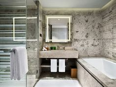 Bathroom at EAST, Beijing by swirehotels, via Flickr