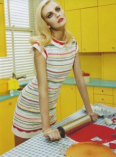 Caroline Trentini photographed by Miles Aldridge for Vogue Italia 2008