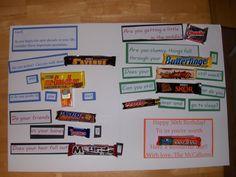 Candy Bar Cards for Friends Mom Birthday Crafts, 90th Birthday Gifts, Birthday Gift Baskets, Birthday Candy, Birthday Sayings, Man Birthday, Birthday Ideas, Chocolate Bar Card, Chocolate Sayings