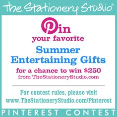 Pin your favorite Christmas Gifts for a chance to win a $250 gift certificate from TheStationeryStudio.com