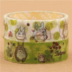 Totoro Washi Masking Tape deco tape set 2pcs 2