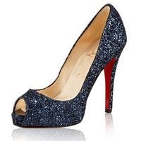 Christian Louboutin Navy Sparkle Pumps-the perfect shoe for my cousins wedding!!