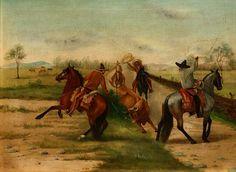"""""""Manganeando un toro a campo abierto"""" by Ernesto Icaza"""