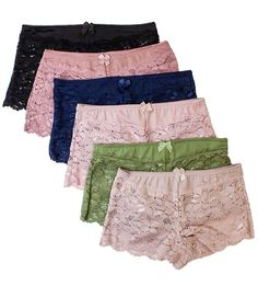 Shop Womens Regular Boyshort Panties - Guaranteed Fit: Lace Boyshorts - Online, Discover More Women's Boy Short Panties On Sale Up to off. Boy Shorts, Lace Shorts, 6 Pack Women, Lingerie Set, Plus Size, Clothes For Women, Application Letters, Sexy Gifts, Ladies Style