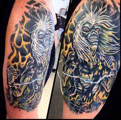 iron maiden tattoos