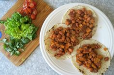 V - Sweet Potato & Bean Tacos. A huge thank you to Beanfields for being a sponsor of Plant Based on a Budget. In our mission to continue providing free resources I am so grateful that one of my favorite companies is collabora Vegan Foods, Vegan Dishes, Vegan Vegetarian, Vegetarian Recipes, Healthy Recipes, Paleo Diet, Plant Based Diet, Plant Based Recipes, New Recipes
