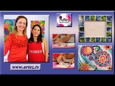 Mosaiquismo. Cómo hacer coloridos diseños con dimensional y acrílicos - YouTube Decoupage, Mandala Painting, Stained Glass Art, Craft Videos, Dots, Youtube, Frame, Crafts, Stained Glass Designs