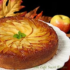 French Apple Cake - the most delicious, melt-in-your-mouth cake with a beautiful apple topping.