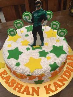 Green lantern birthday cake 1