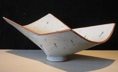Birthe Flexner, WHITE FOLDED BOWL Ceramic