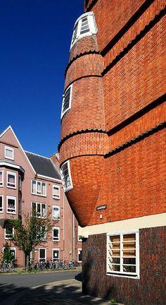 Het Schip, Amsterdamse school. Amsterdam.  The Netherlands