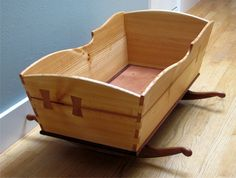 Custom Wooden Rocking Cradle: For Commission