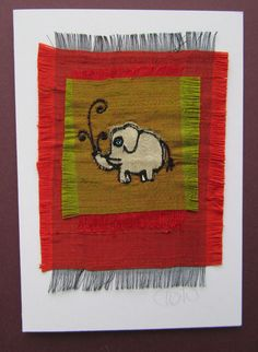Elephant card - Folksy
