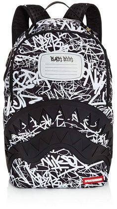 59f9f7fcea Sprayground Boys' Composition Book Print Shark Backpack Backpack Online,  Side, Shark, Gym