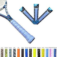 Amazon.com : Alien Pros X-Tac Tennis Overgrip Tape perfect for your tennis racket, racquetball grip, squash racquet and more. 3-Pack, Purple Clouds Design : Sports & Outdoors